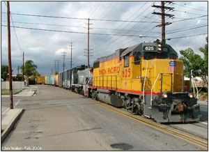 UP 625 and SP 2756 working the Marlboro local back before RCL operations began.