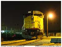 Front shot of UP 2482, an EMD SD60M.