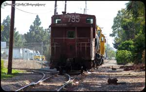 795 trailing on an Extra saturday job as the train runs east to Irvine for beans after crossing Warner.