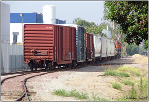Here is a series of images as the 1st LaMirada switches out box cars of wood for Weber. This customer no longer receives rail service