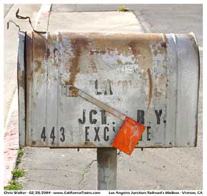 * The mailbox for the LA JCT RY at 443 Exchange Ave in Vernon