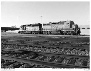 BNSF 2589 running RCL as yard power at the east end of Hobart yard