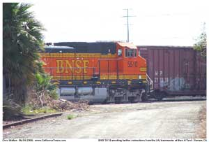 * BNSF 5510 waiting for track assignment from the LAJ Yardmaster